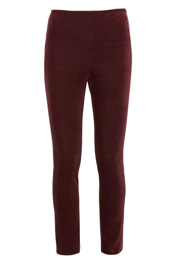 Theory Skinny Velvet Trousers