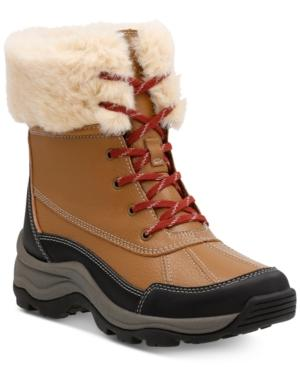 Clarks Women's Mazlyn Arctic Cold-weather Boots Women's Shoes In Tan