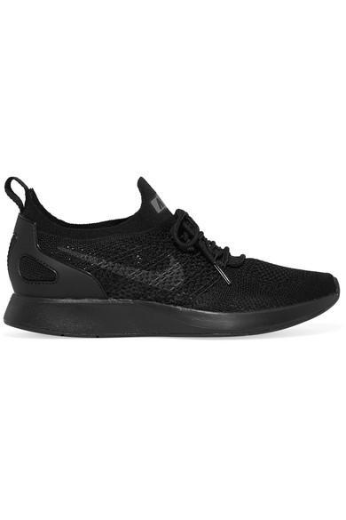 Nike Air Zoom Mariah Flyknit Racer Sneaker In Black