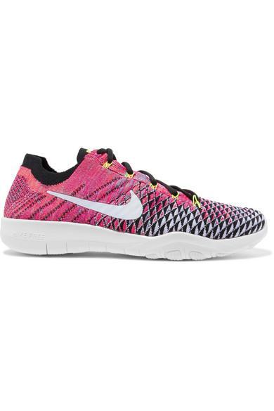 Nike Free Tr Flyknit Sneakers In Pink