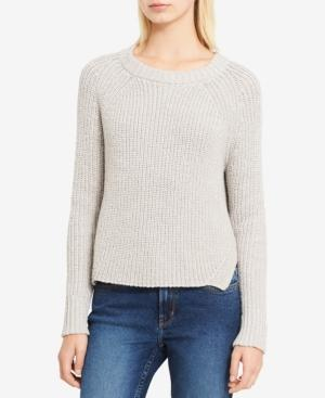 Calvin Klein Jeans Est.1978 High-low Metallic-detail Sweater In Pale Taupe