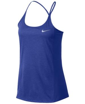 Nike Dry Miler Racerback Running Tank Top In Purple Comet/heather