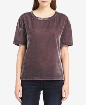 Calvin Klein Jeans Est.1978 Velvet T-shirt In Excalibur