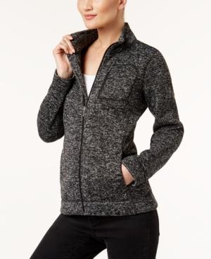 Calvin Klein Heathered Active Jacket In Black/white