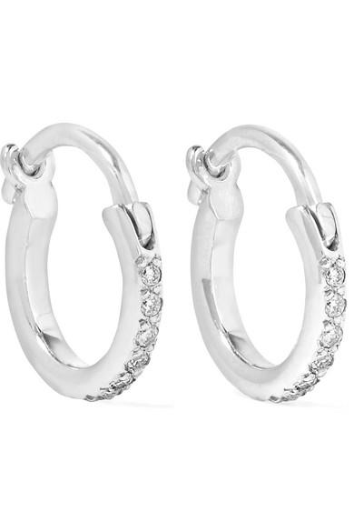 Ileana Makri 18-karat White Gold Diamond Hoop Earrings