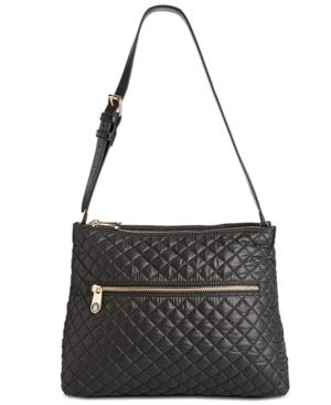 Tommy Hilfiger Pauletta Quilted Small Hobo In Black