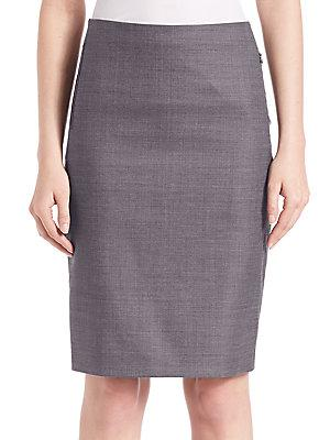 Elie Tahari Tulia Textured Pencil Skirt In Iron Multicolor