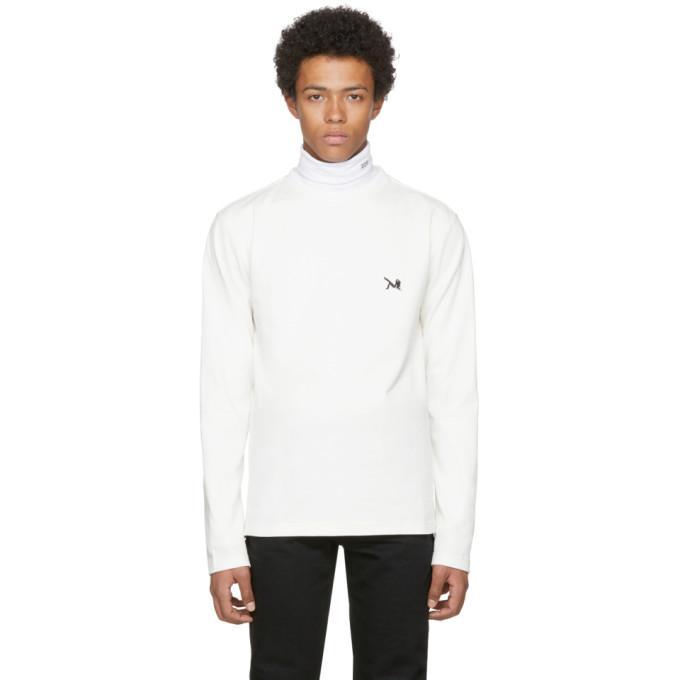 Calvin Klein 205w39nyc White Long Sleeve Logo T-shirt In 101 White