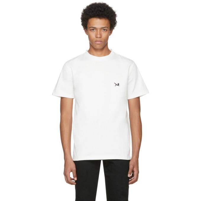 Calvin Klein 205w39nyc White Logo T-shirt In 101 White