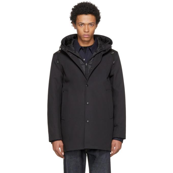 Stutterheim Black Bonded & Lined Stockholm Coat