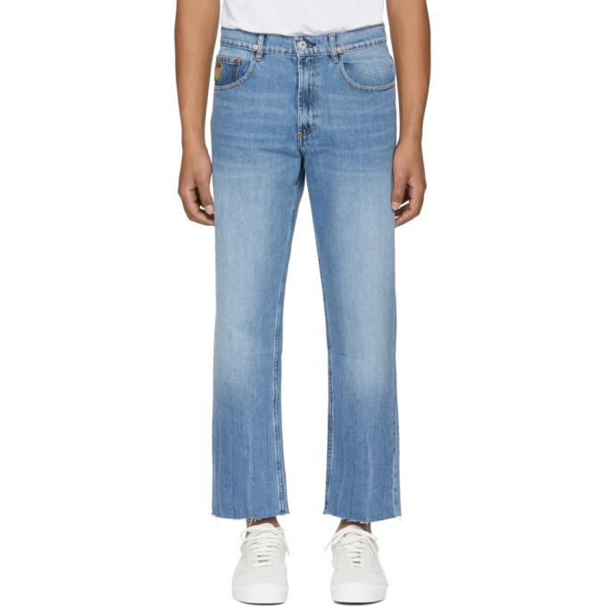 April77 Blue Flip Open Skate Jeans In Skate Blue