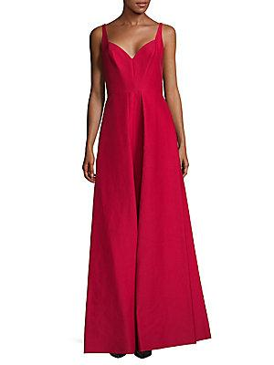 Halston Heritage Carmine Fit-&-flare Gown