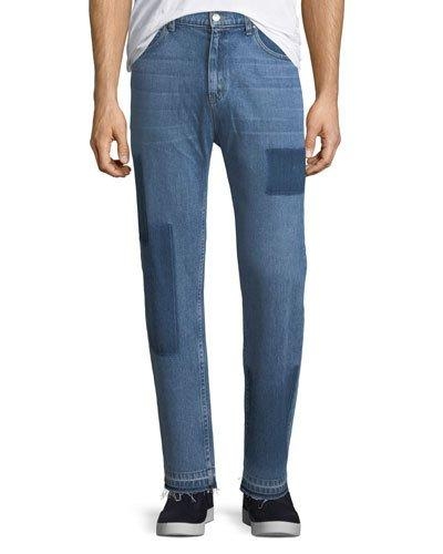 Ovadia & Sons Os-2 Straight-leg Removed Patch Jeans In Washed Indigo