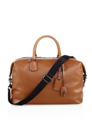 6216c18e5 Coach Explorer Leather Duffel Bag In Saddle | ModeSens