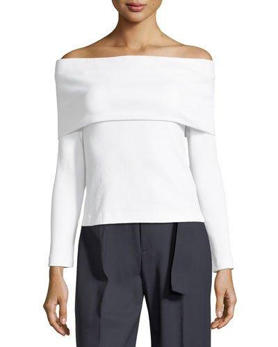 Club Monaco Tabbie Off-shoulder Top In White