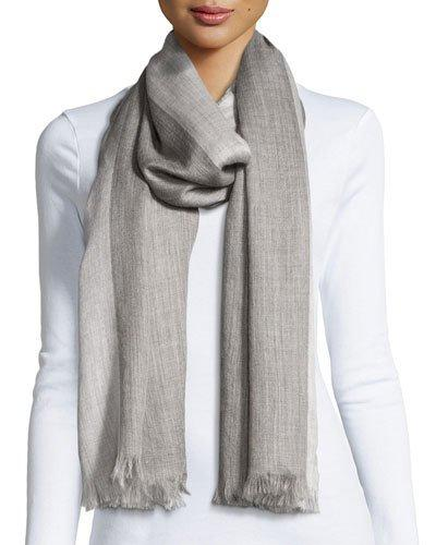 Eileen Fisher Heathered Alpaca-silk Blend Wrap, Ash