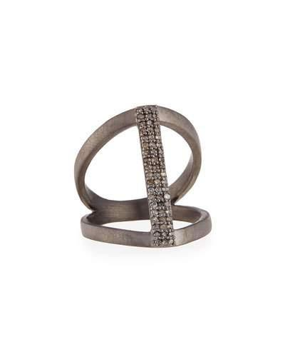 Siena Jewelry Vertical Diamond Bar Ring