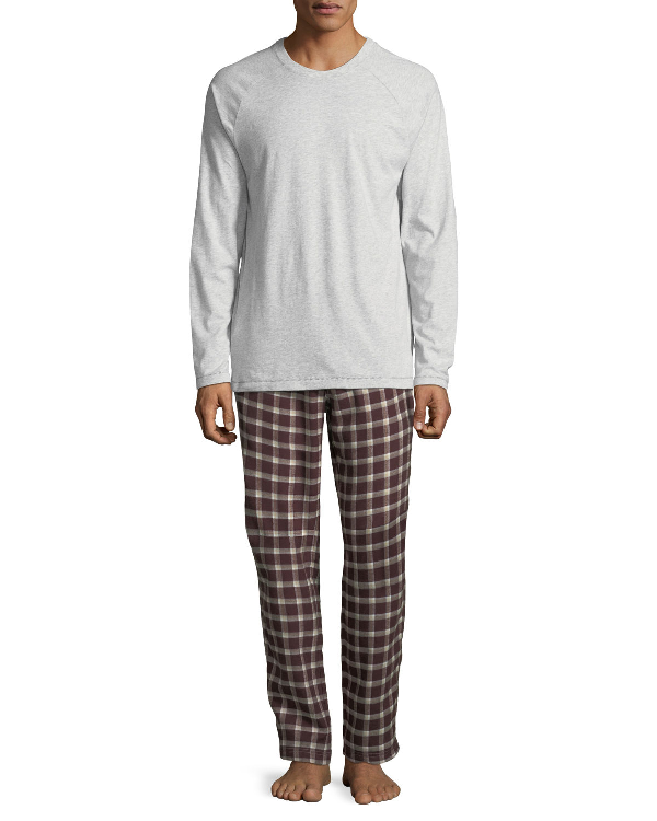 Ugg Steiner Plaid Two-piece Pajama Gift Set In Red