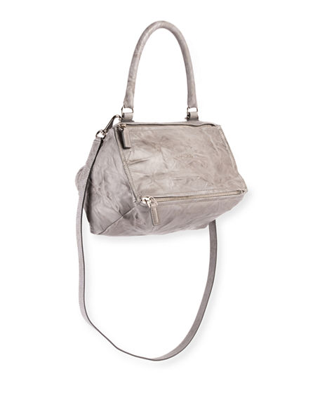 Givenchy Pandora Pepe Medium Satchel Bag In Light Gray