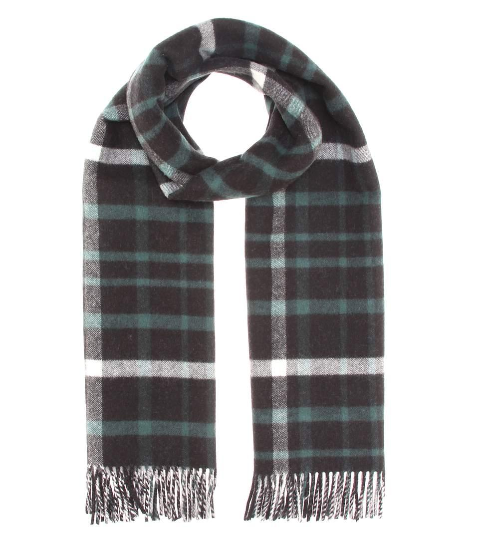 Burberry Wool And Cashmere Scarf In Llack