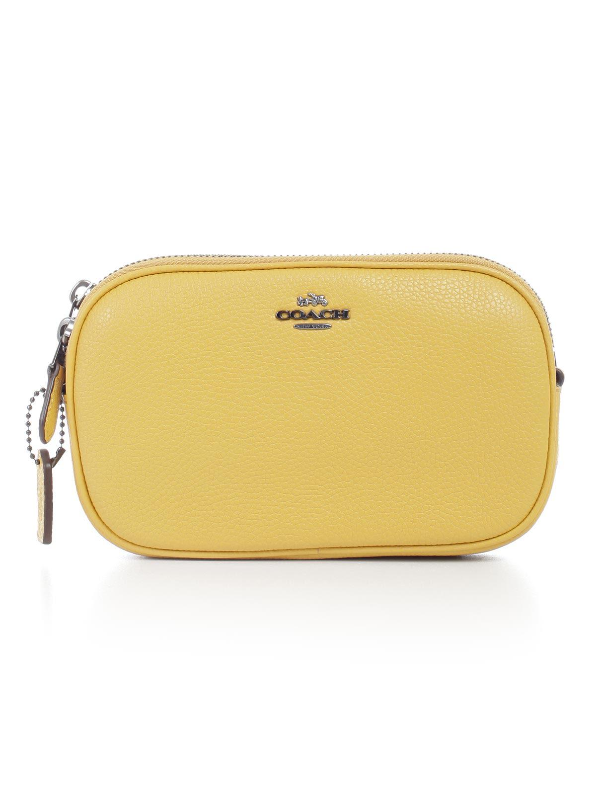 Coach Clutch In Deebv Yellow Gold