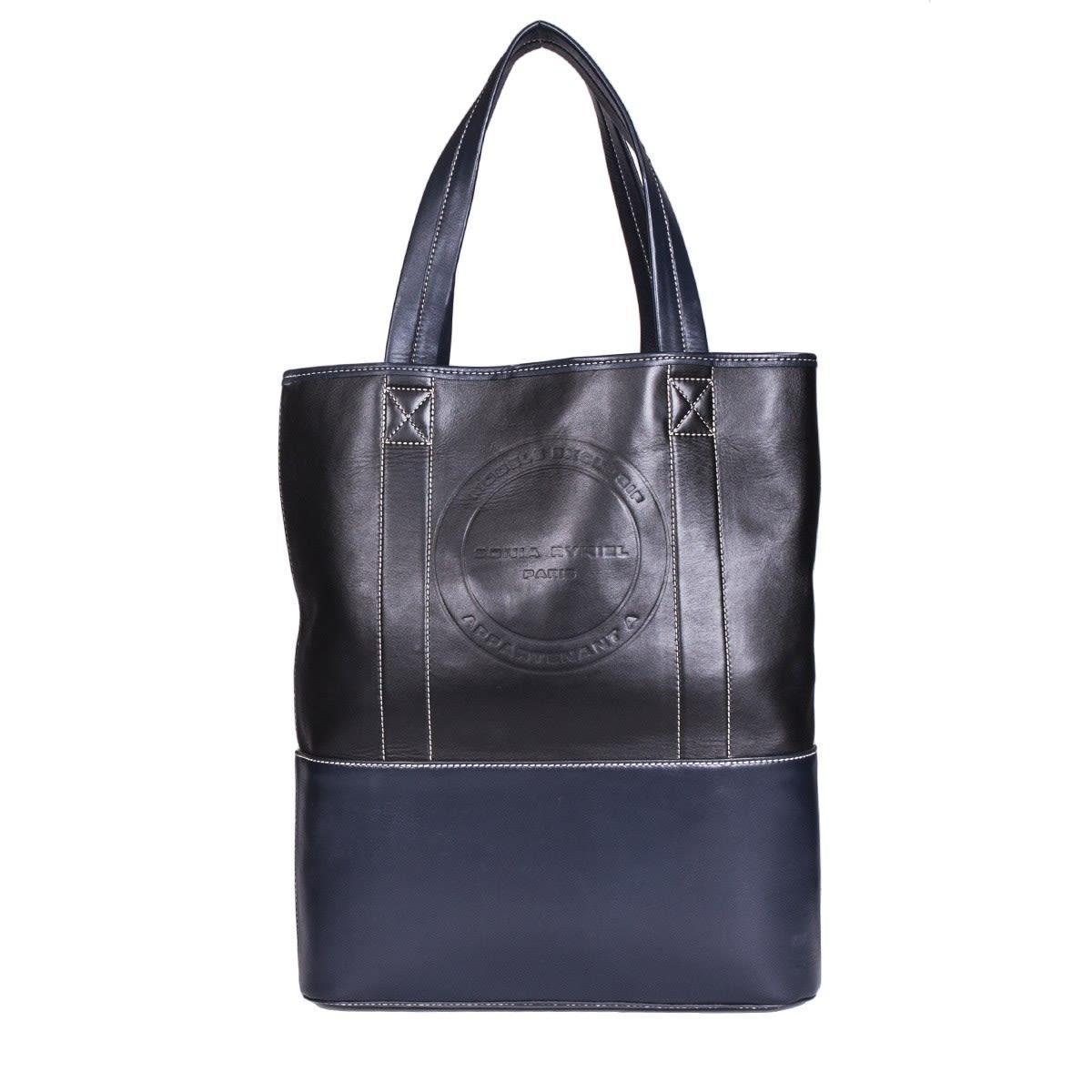 Sonia Rykiel Leather Seilor Tote Bag In Multicolor