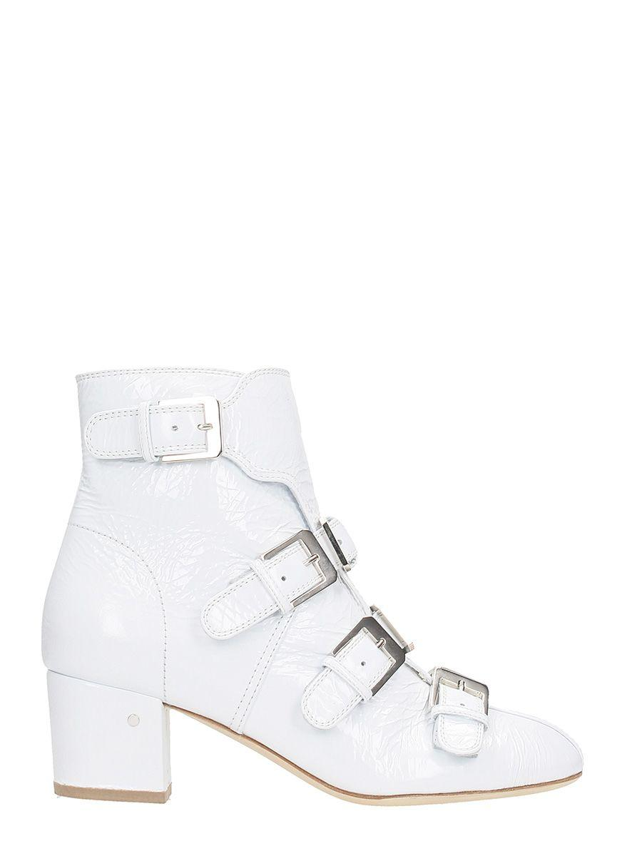 Laurence Dacade Prisca Wrinkled Ankle Boots In White
