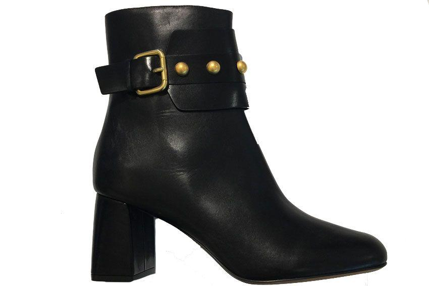 Red Valentino Buckle Boot In Black