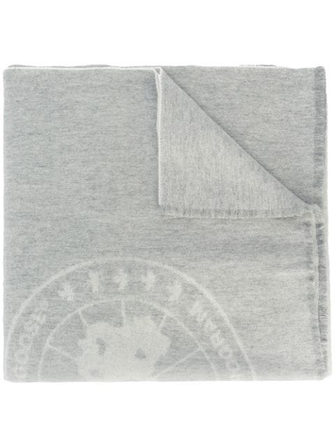 Canada Goose Logo Knit Scarf - Grey