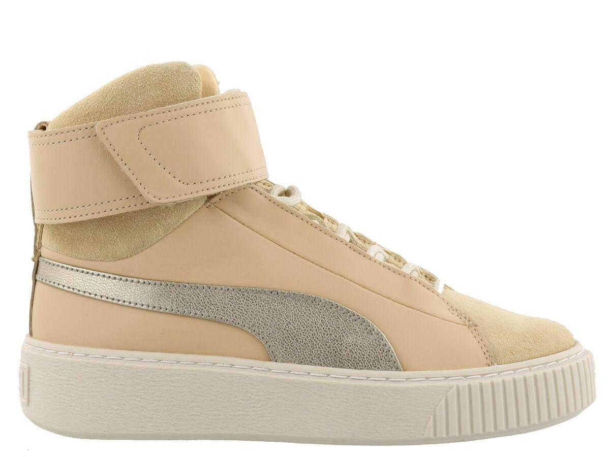 Puma Basket Platform Sneakers In Natural