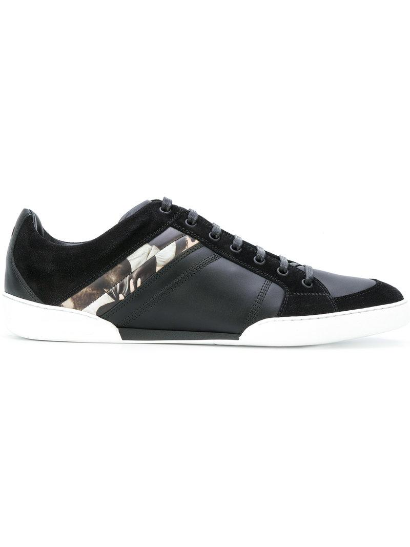 Dior Homme Panelled Lace-up Sneakers In Black
