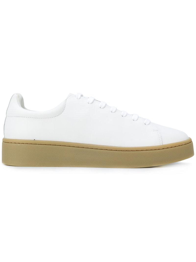 Stampd Lace-up Sneakers In White