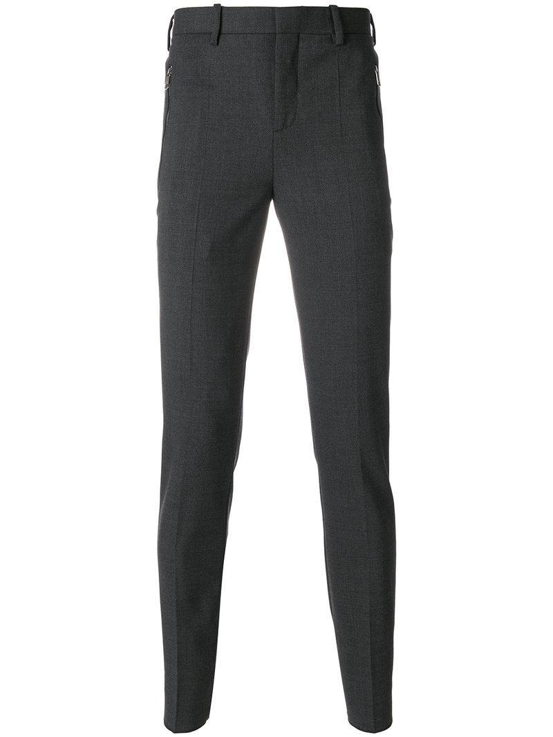 Neil Barrett Slim Fit Tailored Trousers - Grey