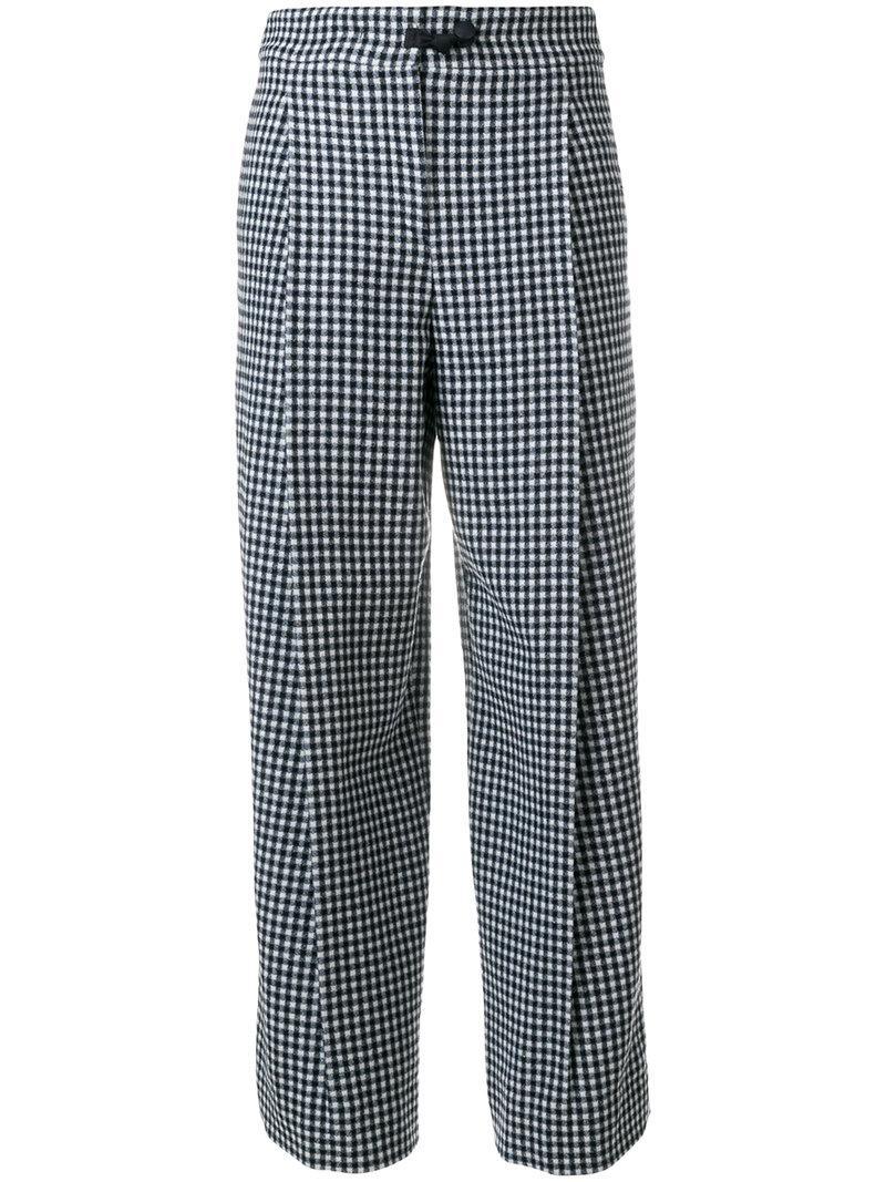 Armani Collezioni Check Trousers