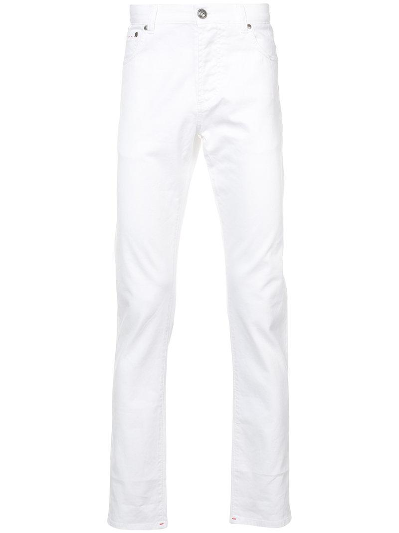 Isaia Slim-fit Trousers - White
