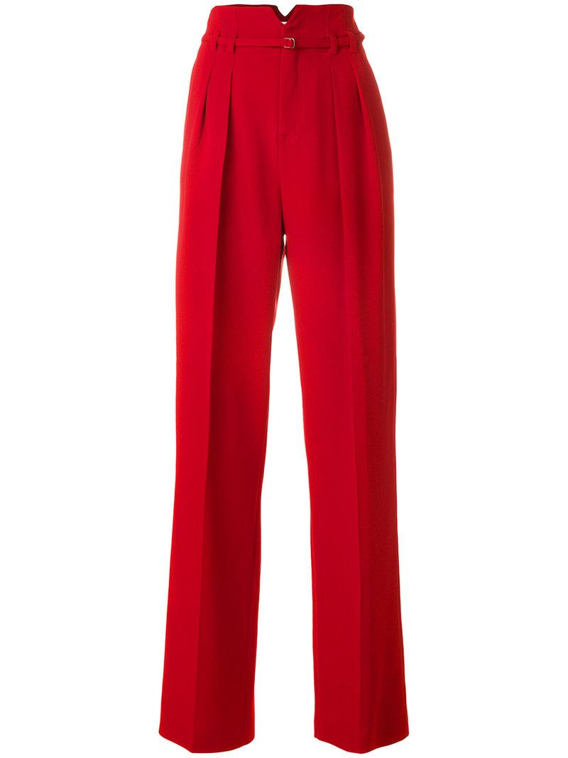 Red Valentino High Waist Straight Trousers
