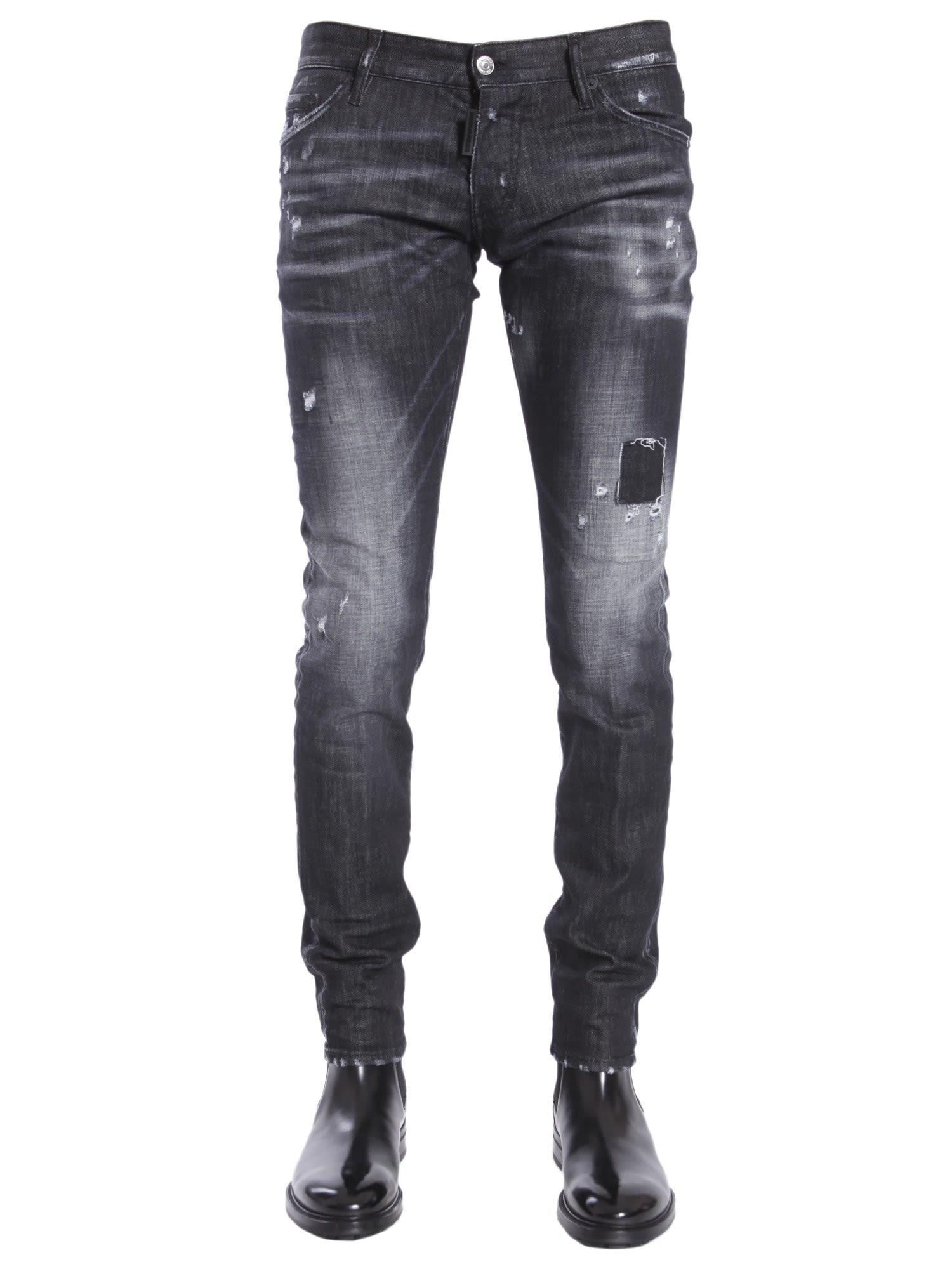 Dsquared2 Long Clement Fit Jeans In Nero