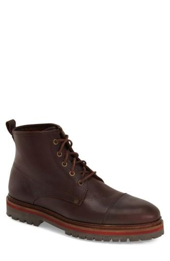 Vince Camuto 'Louden' Boot In Dark Rust Tumbled Leather