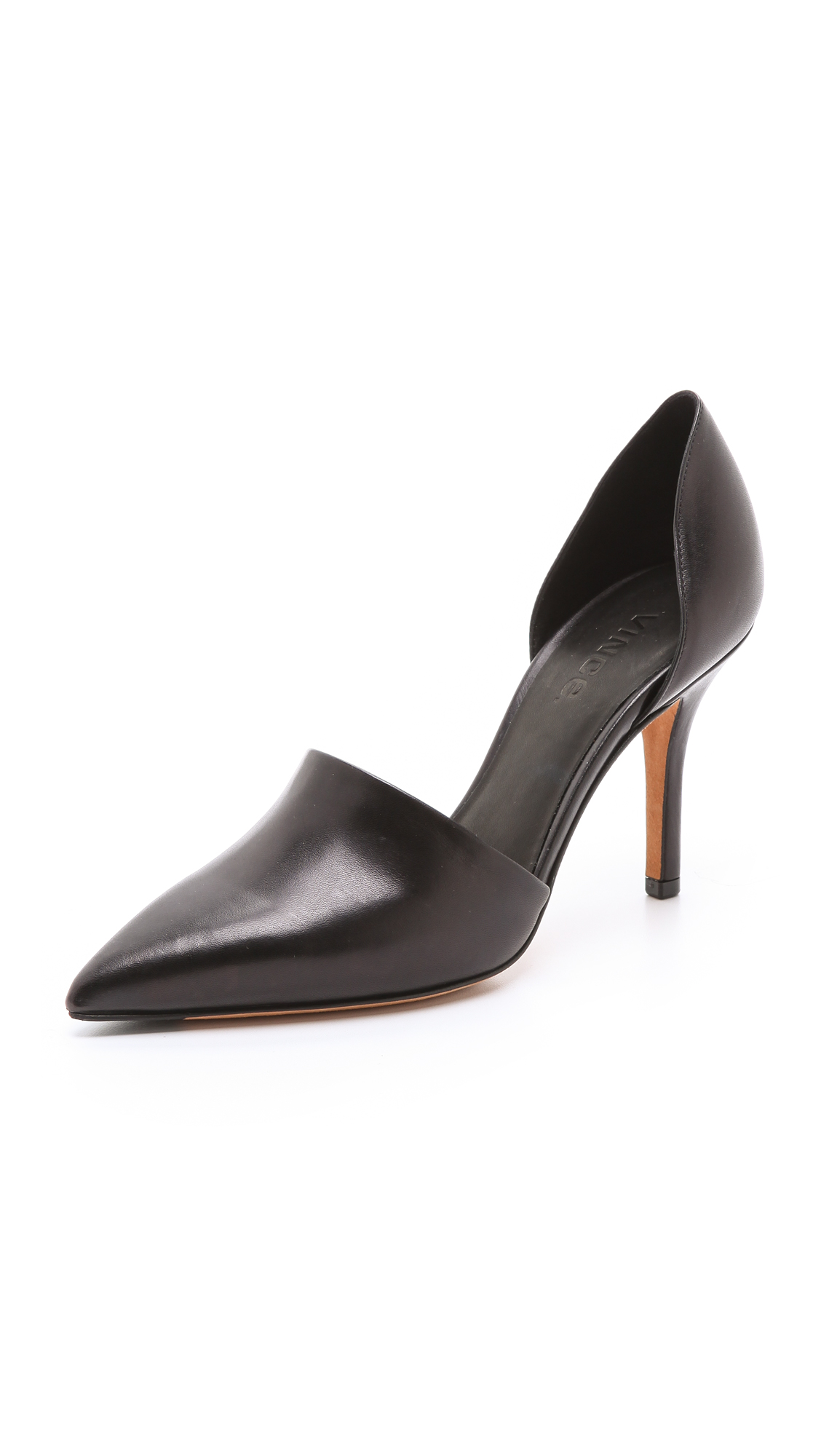 Vince Claire Calf Hair & Leather D'orsay Pumps In Black/black