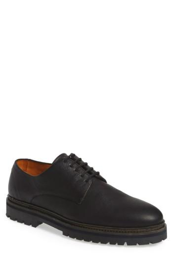 Vince Camuto 'langdon' Derby In Black Tumbled Leather