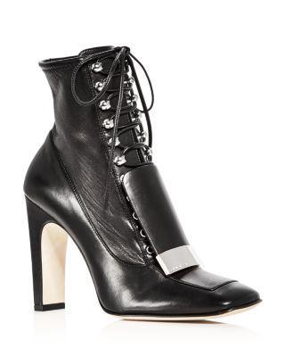 Sergio Rossi Women's Leather High Heel Booties In Nero