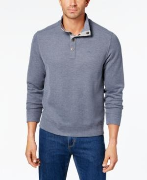 Tommy Bahama Men's Cold Spring Mock Neck Knit, Created For Macy's In Blue Note