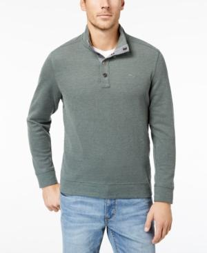 Tommy Bahama Men's Cold Spring Mock Neck Knit, Created For Macy's In Darkest Spring
