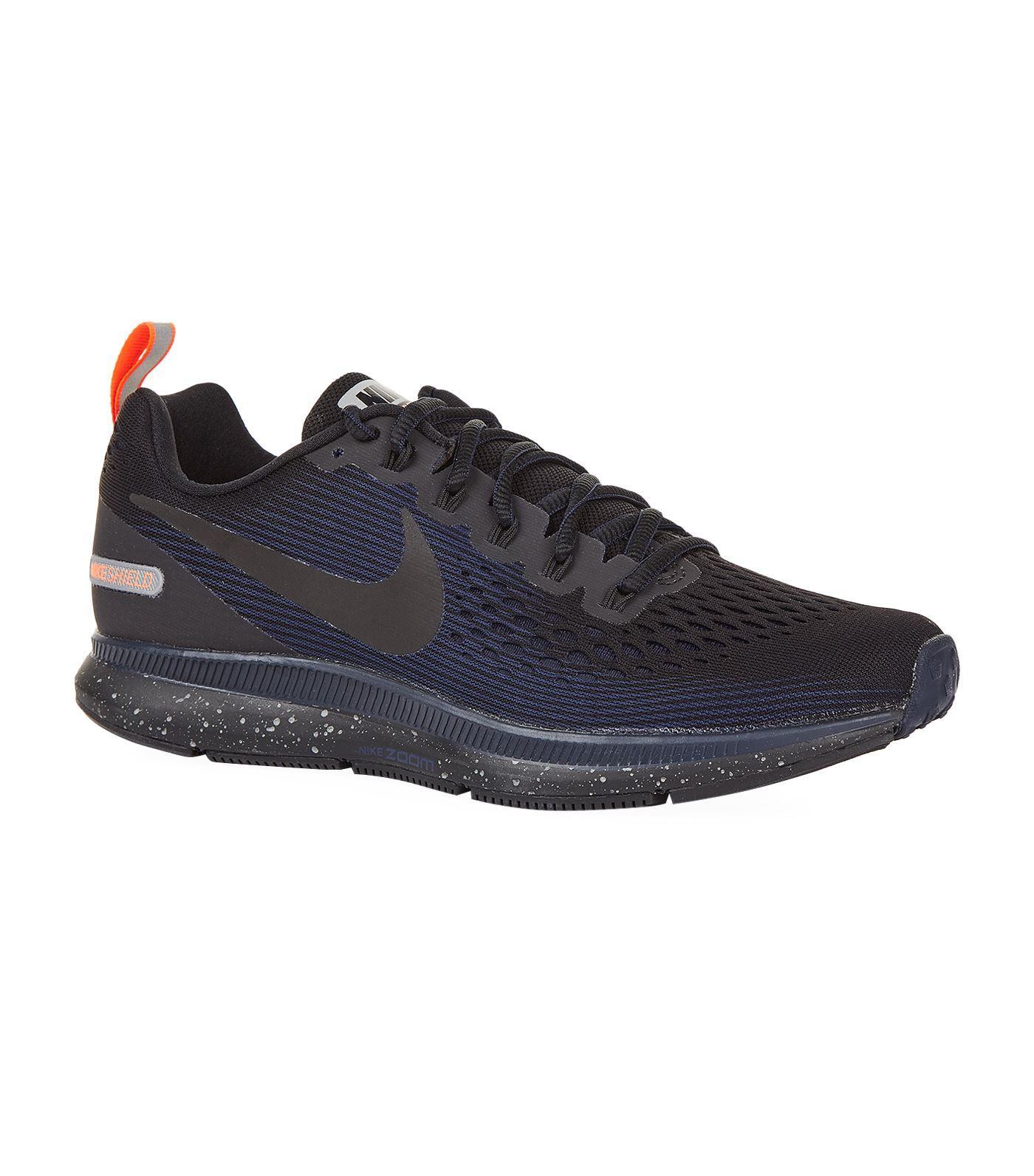 ffe3f73a8890 Nike Air Zoom Pegasus 34 Shield Running Shoe In Black  Black  Obsidian