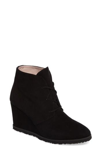 d82501d00c9c Taryn Rose Marta Wedge Bootie In Black Suede