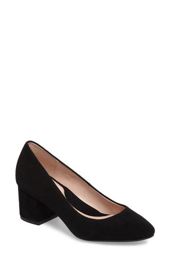 35cab54939 Taryn Rose Rochelle Block Heel Pump In Black Suede | ModeSens