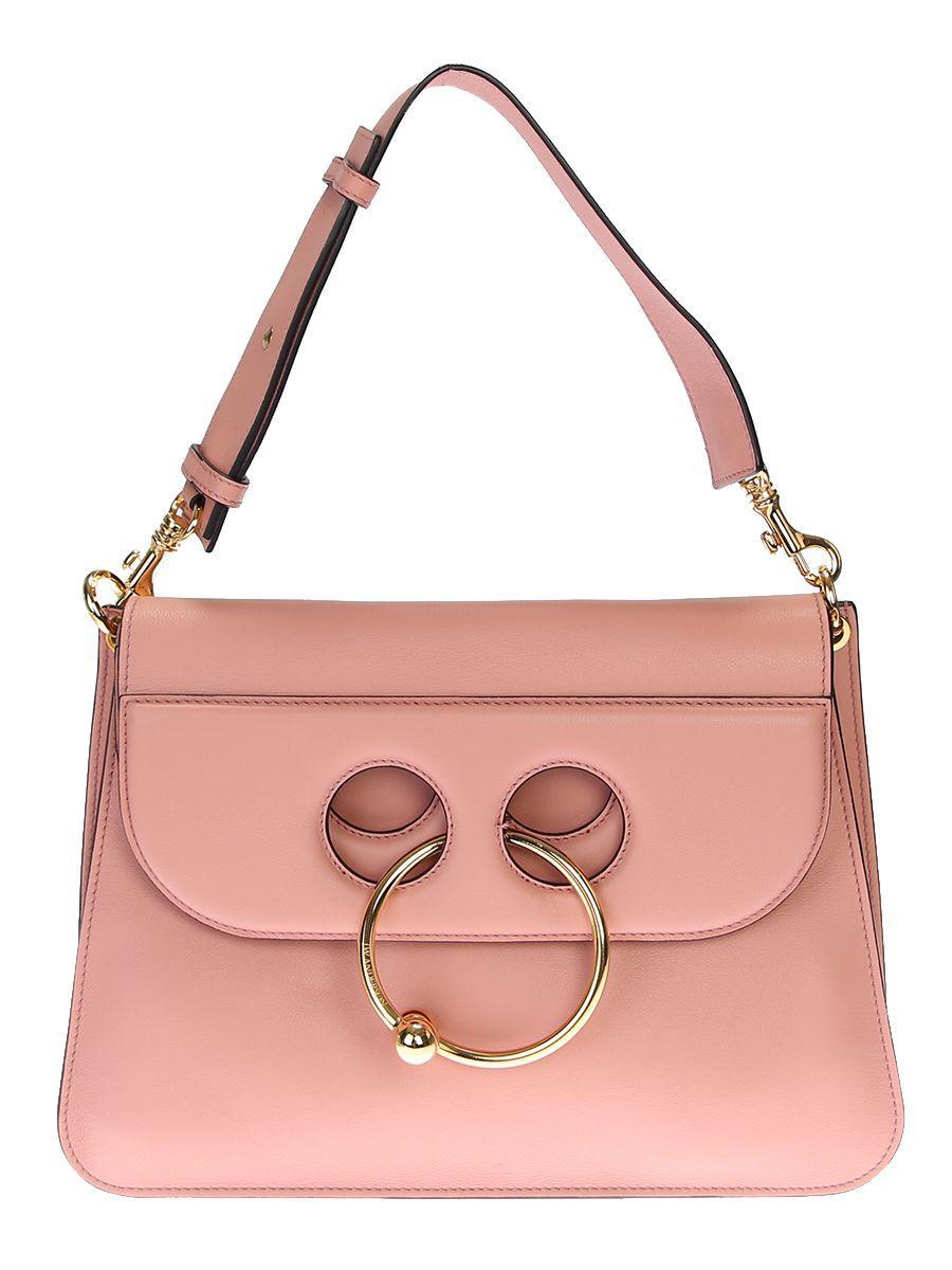 Jw Anderson Medium Pierce Leather Bag In Multi