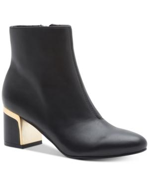 3ebc44967fa Dkny Corrie Ankle Booties, A Macy's Exclusive Style In Black Leather ...