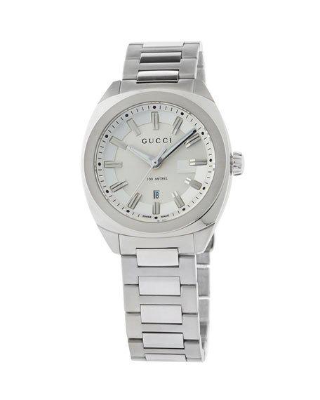 Gucci 37M Men's Stainless Steel Bracelet Watch, Silver