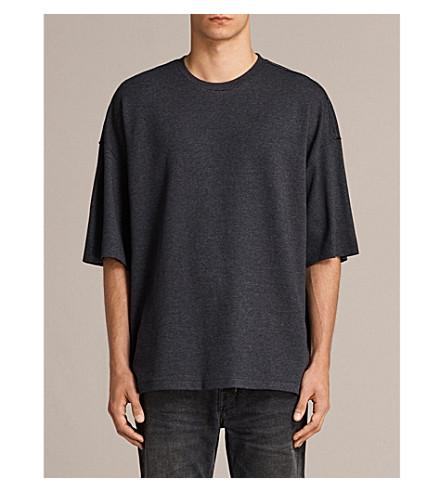 Allsaints Torny Cotton-Jersey T-Shirt In Cinder Marl/Bl